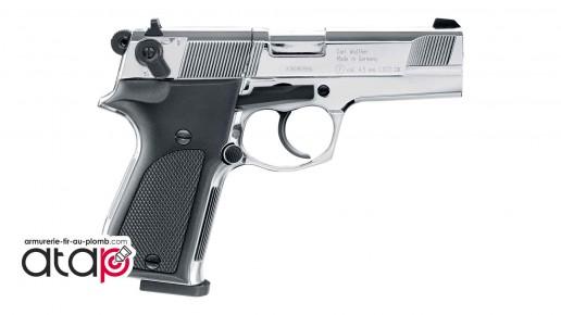 Pistolet À plomb 4,5mm Walther CP88 Chromé