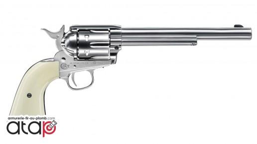 Colt SAA 45 canon 7,5 pouces couleur nickel