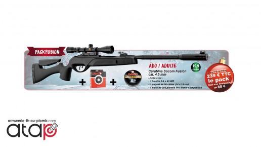 Pack Carabine à plombs Socom Fusion Cal.4.5 mm 19.9 J
