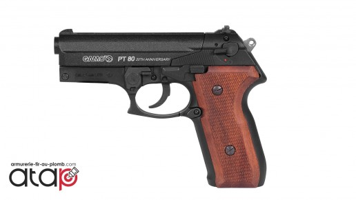 Pistolet à plombs GAMO PT80 20th anniversary 4.5 mm