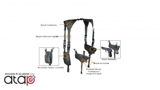 Holster vertical ambidextre d'épaule