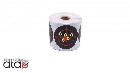 20 autocollants cibles réactives en dimaètre 7.5 cm pour tir aux plombs