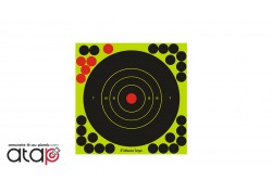 10 Cibles réactives autocollantes avec pastilles en diamètre 17.5 cm pour tir au plomb