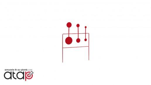 Triple Objectifs oscillantes avec 6 cibles pour carabine à plomb Stoeger