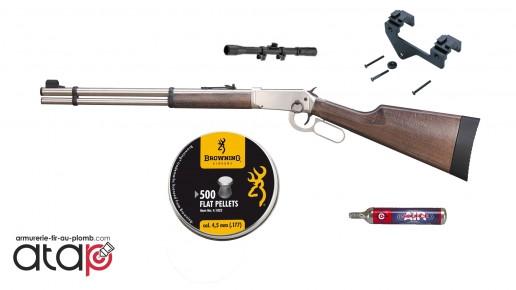 Pack prêt à tirer Carabine Lever Action Winchester en Acier 7.5 joules