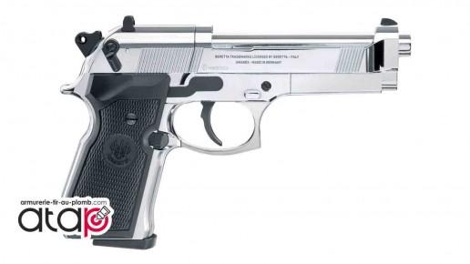 Pistolet À plomb 4,5 mm Beretta M92 FS Chromé