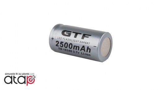 Batterie CR123A (16340) Li-ion de 2500 mAh