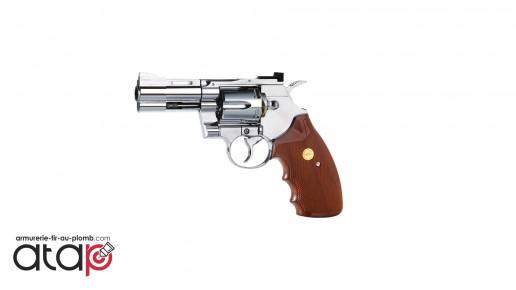 """Colt Python 357 - 2.5"""" chromé crosse imitation bois à billes acier"""