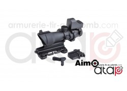 Viseur combo combat scope 4x32 QD et red dot sight noir