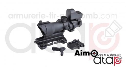 Viseur combo combat scope 4x32 QD et red dot sight noir