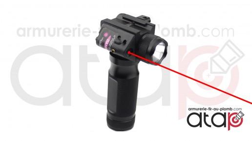 Poignée tactique lampe laser Full métal