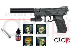 Pack Halloween Pistolet à billes d'acier CZ P-07 Duty blowback CO2