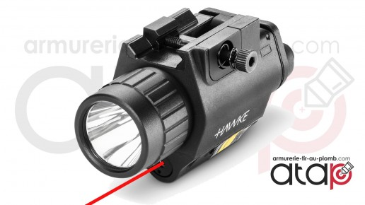 Lampe laser Hawke illuminator sur rail picatinny
