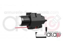 Lampe et laser sur rail picatinny