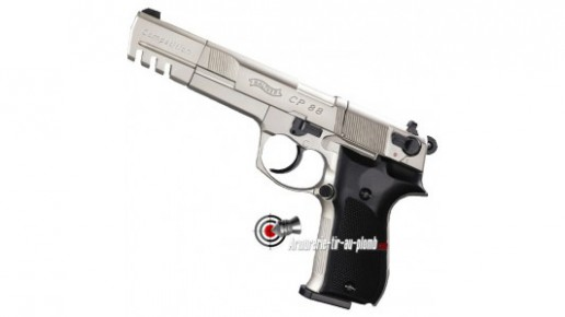 Walther CP88 Competition - nickel / crosse noire