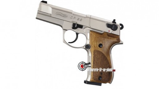 "Walther CP88 4"" - nickel / crosse bois"