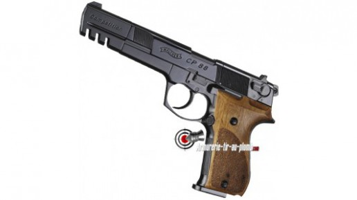 Walther CP88 Competition - noir / crosse bois