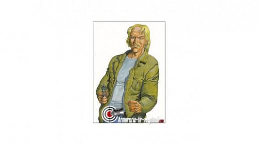 """Cible papier """"Kurt"""" - 89 x 64"""