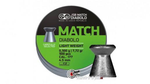 Plombs JSB Match Diabolo - 4.49 mm / Light Weight