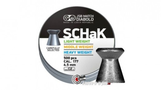 Plombs JSB SCHAK - 4.50 mm / Middle Weight