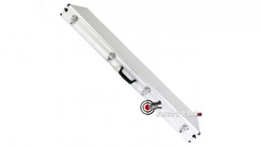 Grande mallette aluminium pour deux armes longues - 134 cm