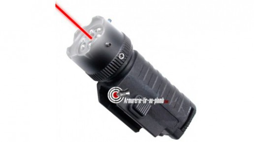 Lampe tactical à LED et laser - 22 mm