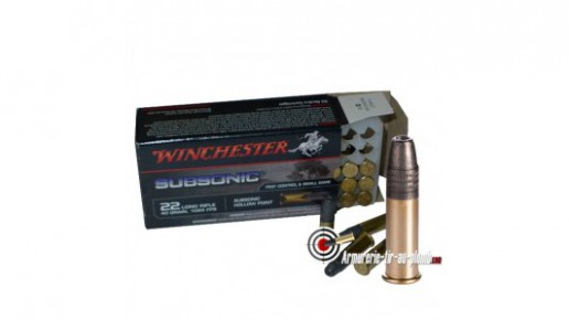 Cartouches Winchester .22 LR Subsonic