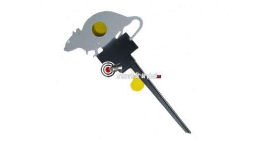Cible rat métal à ficher