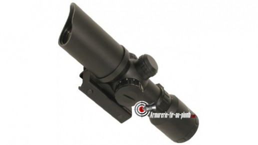 Lunette Swiss Arms 1.5-5x32 réticule lumineux - 22 mm